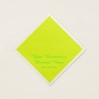 neon  yellow solid color paper napkin