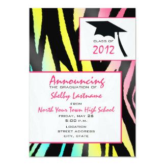 Neon Zebra 2012 Graduation Announcement