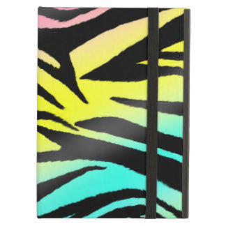 Neon Zebra Powis iPad Case With Kickstand