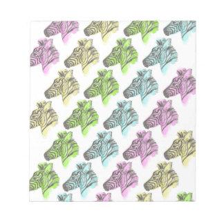Neon Zebra Stripes Notepad
