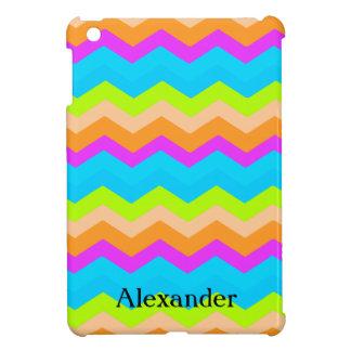 Neon Zig Zag Chevron iPad Mini Cover