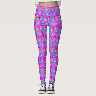 neonpinkflowerpower leggings