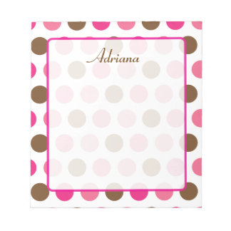 Neopolitan Dots Personalized Notepad