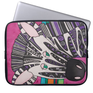 "Neoprene 15"" Laptop Sleeve: Zebra Series Laptop Sleeve"