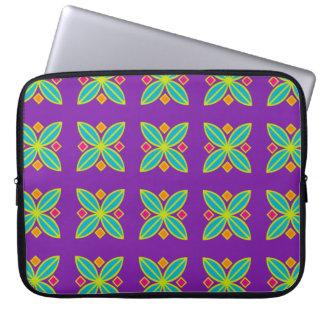 Neoprene abstract geometric laptop sleeve
