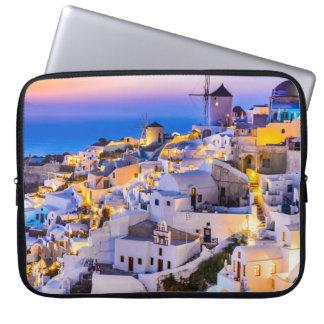 Neoprene Laptop Sleeve 15 inch Oia Santorini Greec