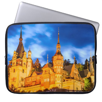Neoprene Laptop Sleeve 15 inch Peles castle Sinaia