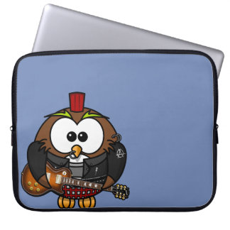 "Neoprene Laptop Sleeve 15"" ""Punk Owl """
