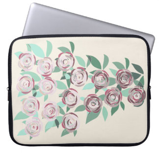 Neoprene layer for Laptop Vitral Bouquet of Roses Laptop Sleeve