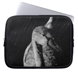 Neoprene small pocket computer port Young Swan Laptop Sleeve