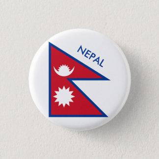 nepal 1 inch round button