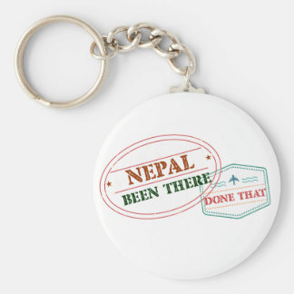 Nepal Been There Done That Keychain