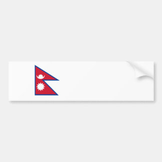 nepal country flag nation symbol bumper sticker