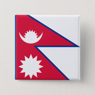 Nepal Flag 2 Inch Square Button