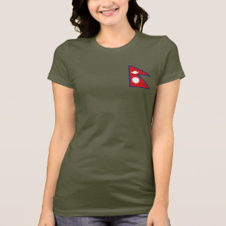 Nepal Flag and Map dk T-Shirt