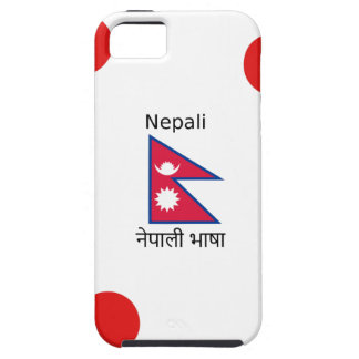 Nepal Flag And Nepali Language Design Case For The iPhone 5