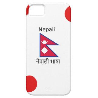 Nepal Flag And Nepali Language Design iPhone 5 Case
