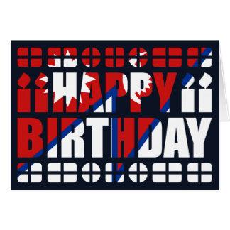 Nepal Flag Birthday Card