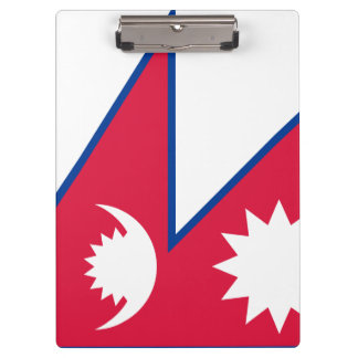 Nepal Flag Clipboard