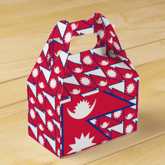 Nepal Flag Favor Box