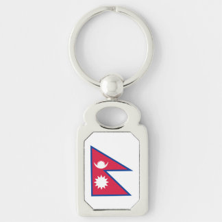 Nepal Flag Keychain