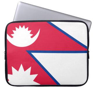 Nepal Flag Laptop Sleeve