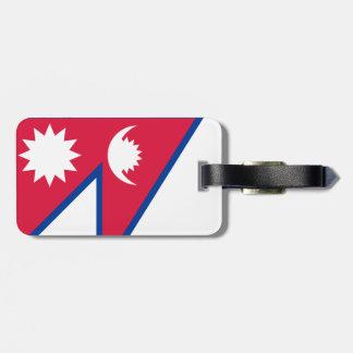 Nepal Flag Luggage Tag