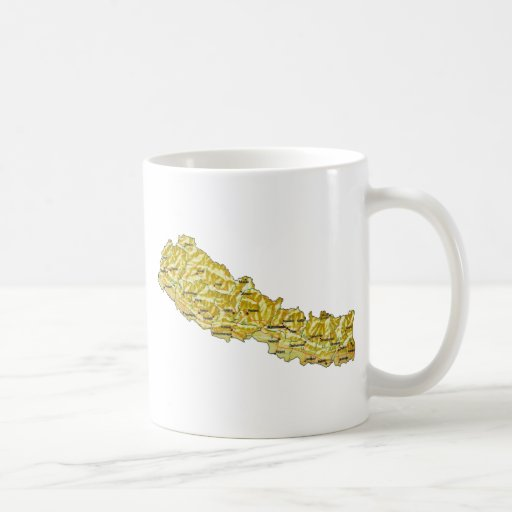 Nepal Flag ~ Map Mug