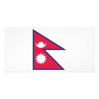 Nepal Flag Photo Card Template