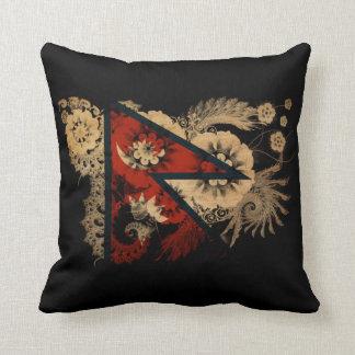 Nepal Flag Throw Pillow