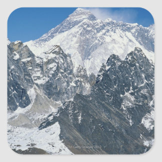 Nepal, Himalayas, view of Mt Everest from Gokyo Square Sticker