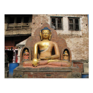 Nepal - Kathmandu - Buddha At Swayambunath Temple Postcard