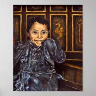 Nepal Orphan in Monastery Print