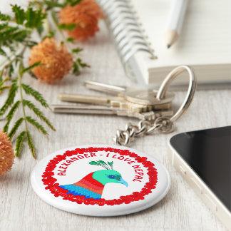 Nepal Pheasant Symbol Personalized I Love Nepal Keychain
