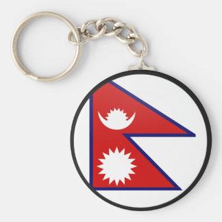 Nepal quality Flag Circle Keychain