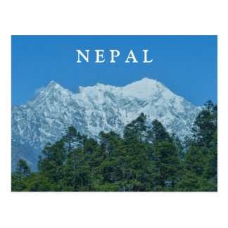 Nepal Snowy Mountains Postcard