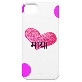 Nepali Language of Love Design iPhone 5 Cover