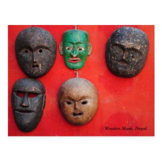 Nepali wooden Mask Postcard