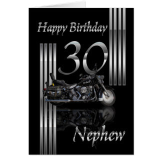 Nephew - 30th Birthday Card Motorbike
