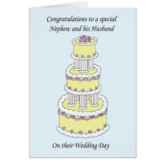 Nephew and Husband on wedding Day Card