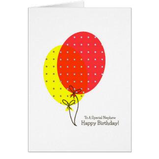 Nephew Birthday Cards, Big Colorful Balloons Card