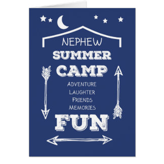 Nephew Camp Fun Navy Blue, Thinking of You Card