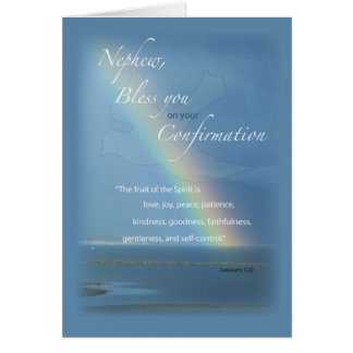 Nephew Confirmation Rainbow Congratulations Card