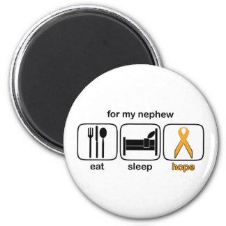 Nephew Eat Sleep Hope - Leukemia 2 Inch Round Magnet