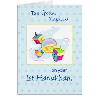 Nephew First Hanukkah Card