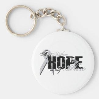 Nephew My Hero - Lung Hope Basic Round Button Keychain