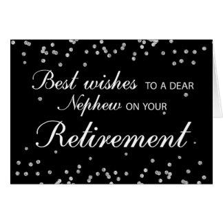 Nephew, Retirement Congratulations Black + Silver Card