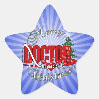 NEPHROLOGIST DOCTOR CHRISTMAS STAR STICKER