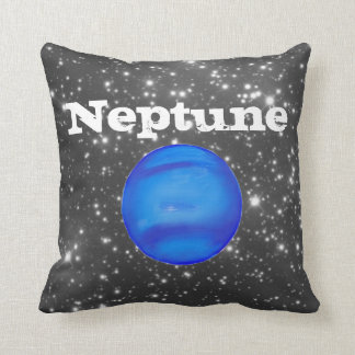 Neptune Astronomy Space Blue Throw Pillow