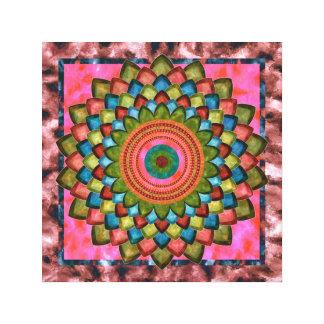 Neptune flower mandala canvas print